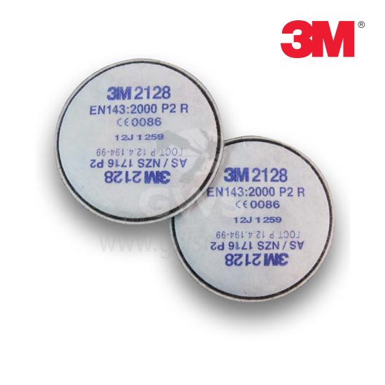 3M Filter P2 Fumes/Particulates/Ozone 3M #2128 (2/Pack)